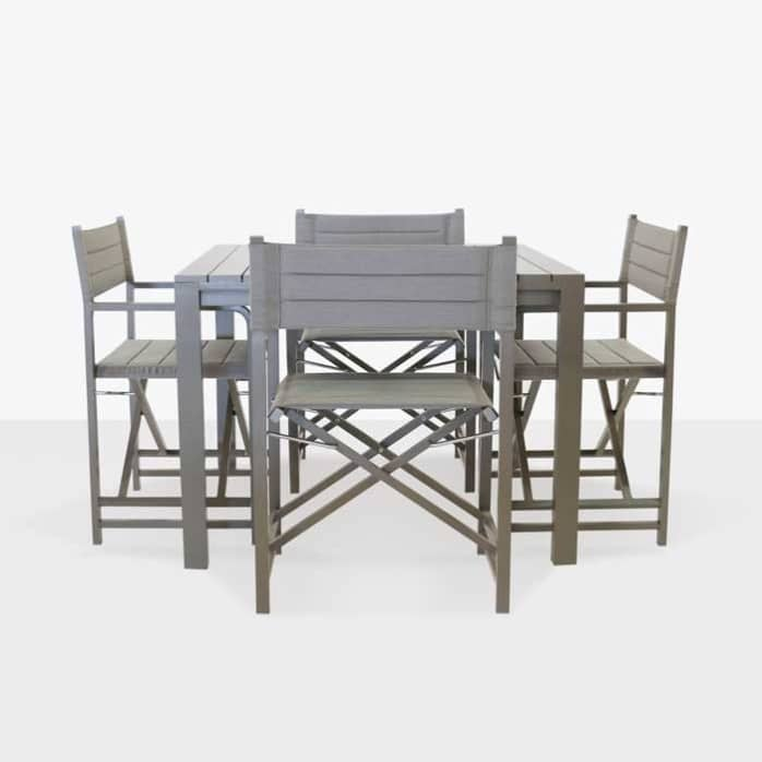 el fresco square dining table with 4 director chairs design