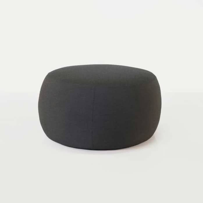fuji outdoor relaxing pouf in coal