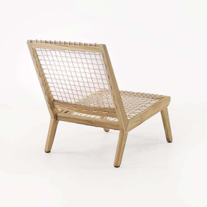 Grace teak chair back view