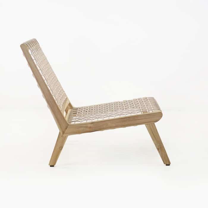 Grace teak chair side view