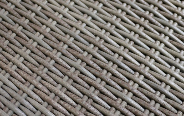 wicker weave close up in kubu