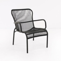 Luxe black high-density polyethylene chair