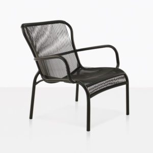 luxe outdoor relaxing chair black