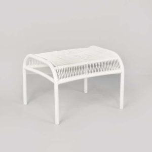Luxe white high-density polyethylene ottoman