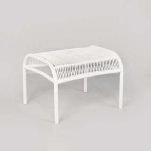 Luxe white high-density polyethylene ottoman