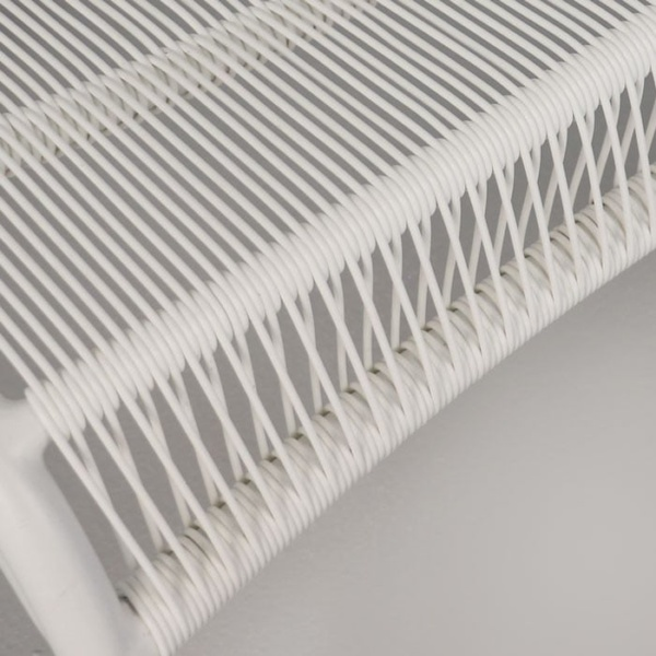 Luxe high-density polyethylene strand close up