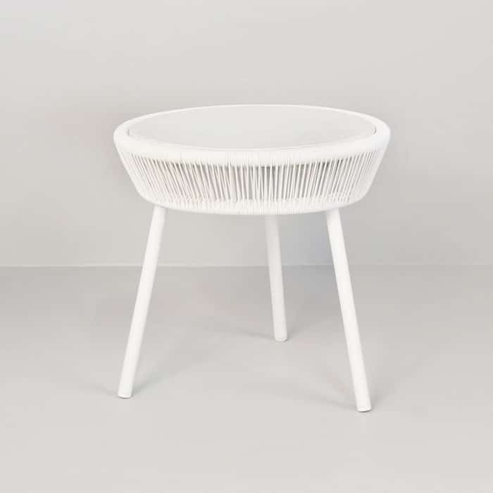 Luxe white accent table