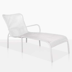luxe white sun lounger