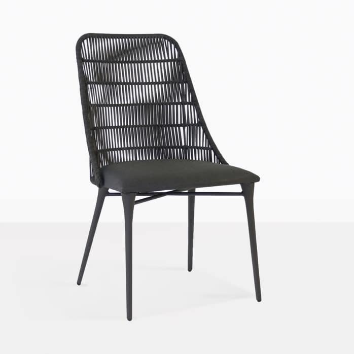 Morgan outdoor wicker dining chair cocoa