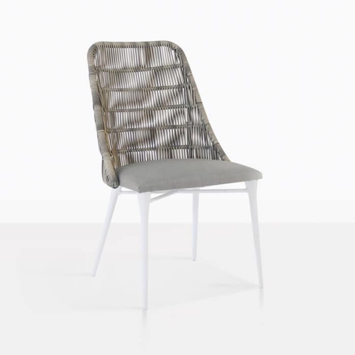 Morgan stone outdoor dining chair angle