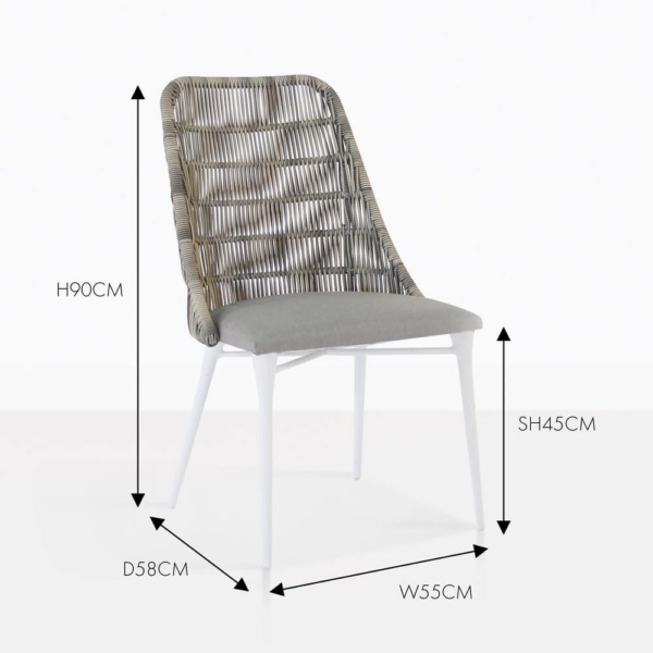 Morgan stone wicker outdoor dining chair
