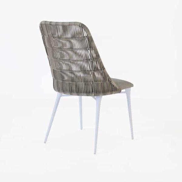 Morgan stonewash wicker dining chair back view