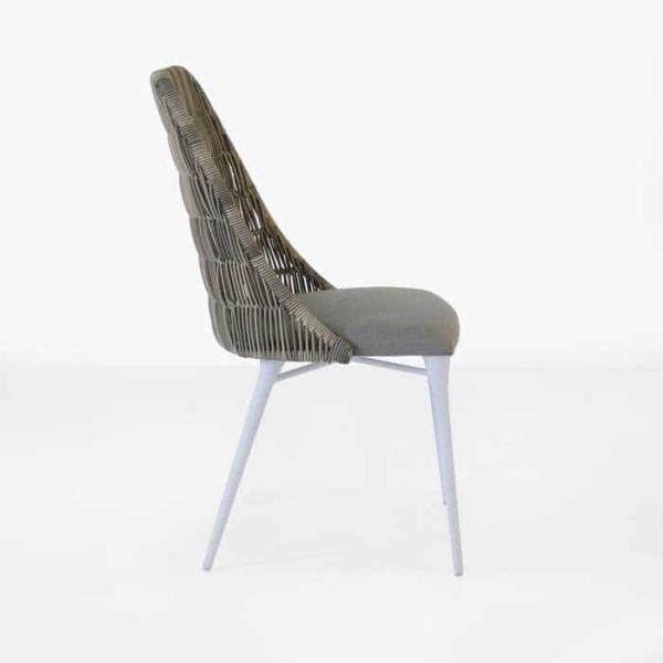 Morgan stonewash wicker dining chair side view