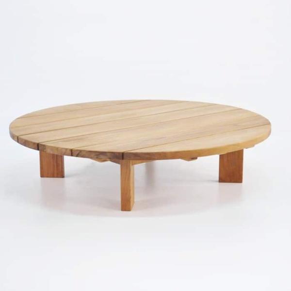soho teak round coffee table