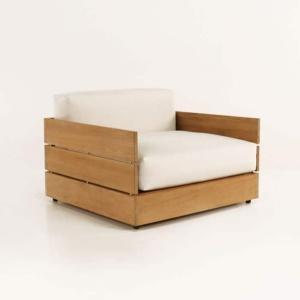 soho grande teak club chair with sunbrella cushions