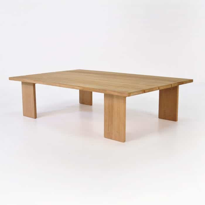 soho teak rectangle coffee table