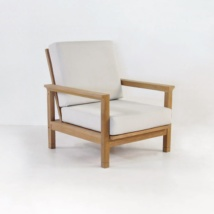 st tropez teak club chair with sunbrella cushions