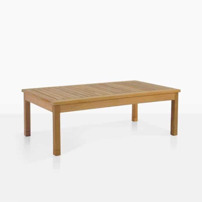 st. tropez large coffee table teak angle