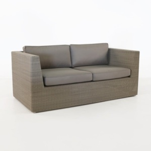 Antonio Outdoor Wicker Loveseat Stonewash