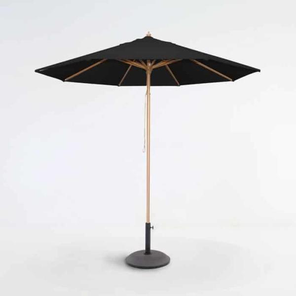 Sunbrella Umbrella black on stand