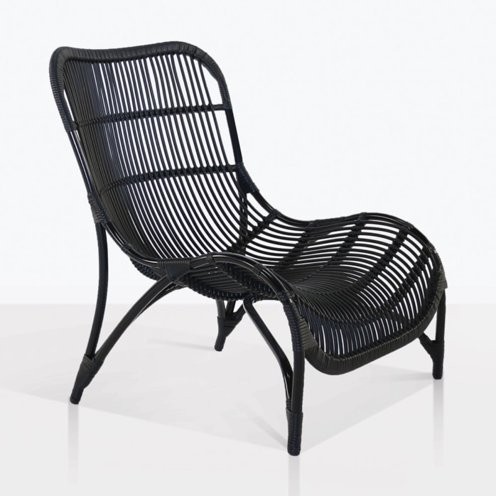 elle relaxing outdoor chair angle black