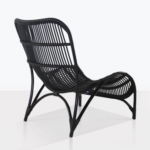 elle relaxing outdoor chair back black