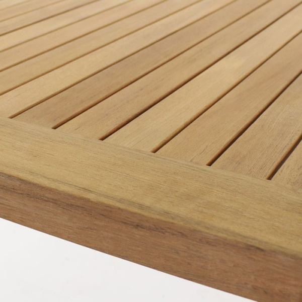 Long Island A-grade teak table top close up