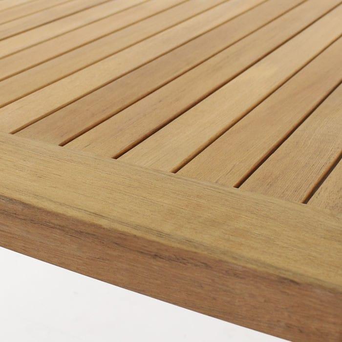 Long Island A-grade teak table top close up