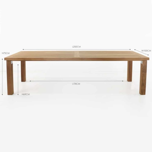 teak rectangular dining table
