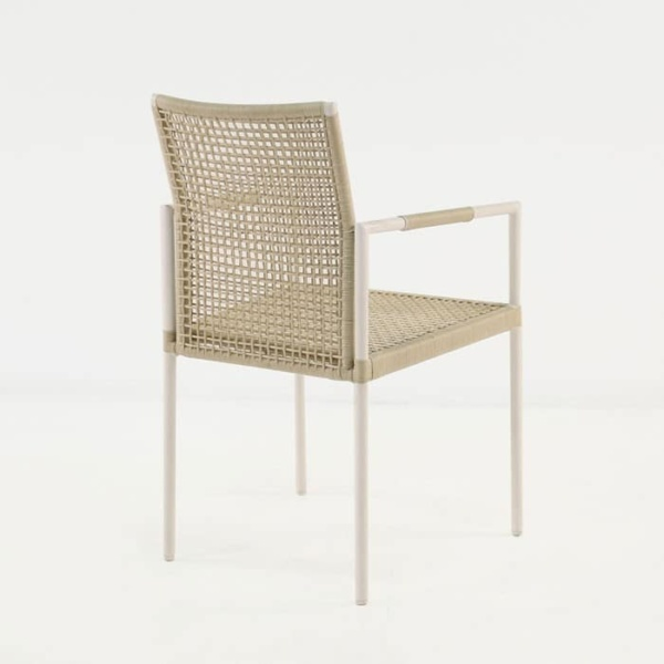 Moderno dining arm chair back view