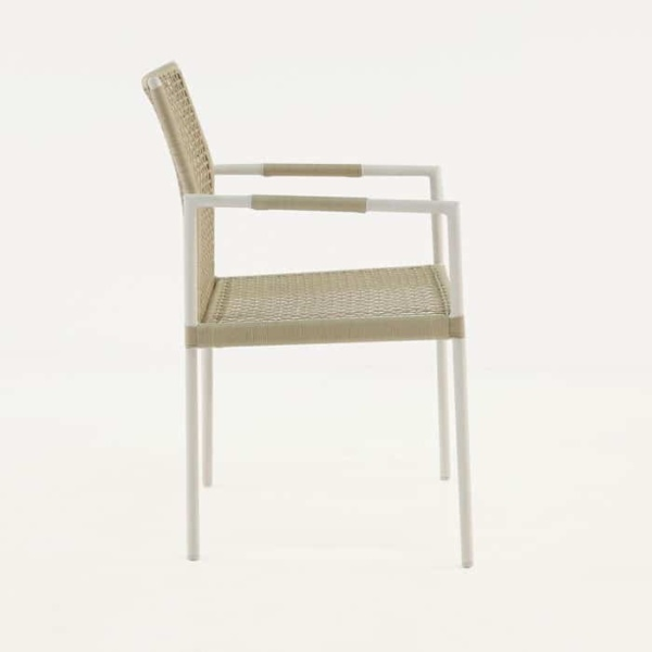 Moderno dining arm chair side view
