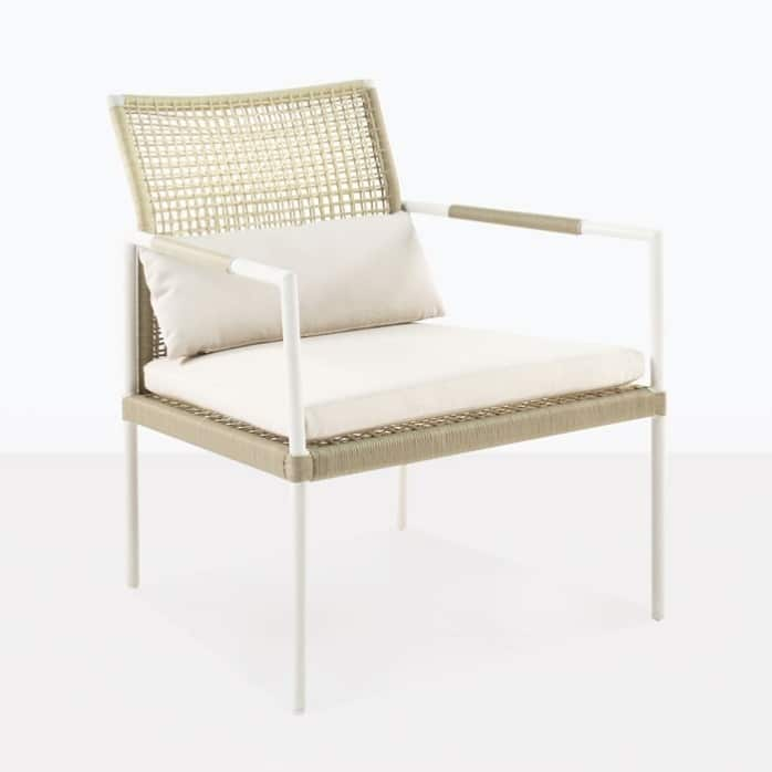 moderno relaxing chair wicker aluminium cushions