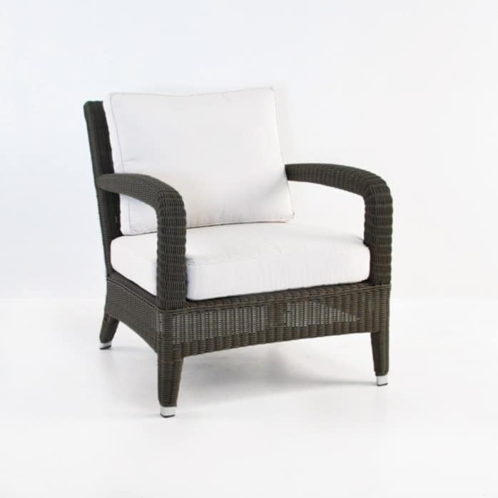 Aaron Outdoor Relaxing Wicker Chair Java