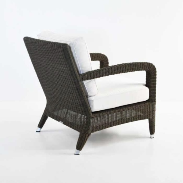Aaron Outdoor Relaxing Wicker Chair Java back view
