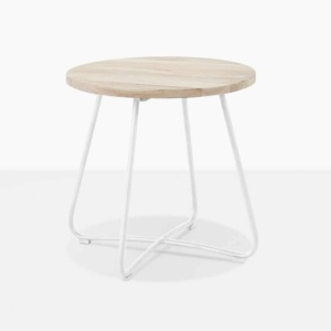 east driftwood side table outdoor white