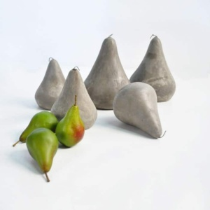 BLOK Concrete Pears decor