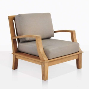 westminister outdoor teak club chair angle