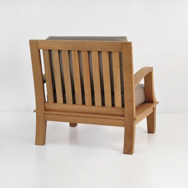 westminster teak club chair back angle view
