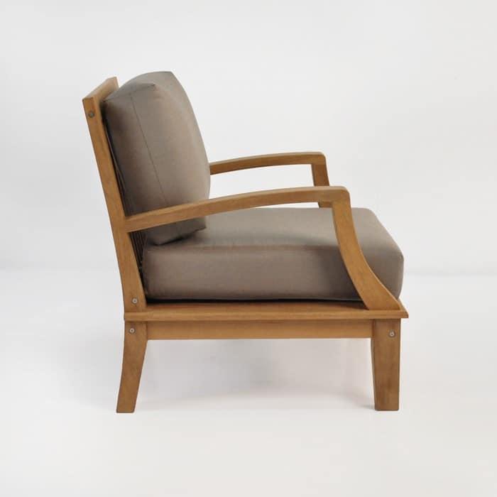 westminster teak club chair side view