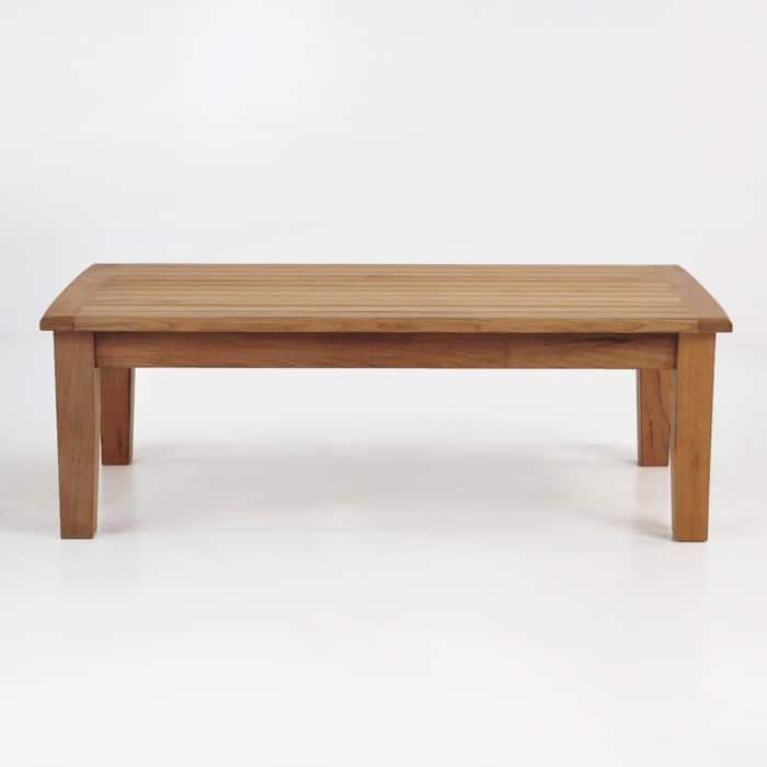westminster teak coffee table side view