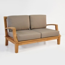 westminster teak loveseat with sunbrella cushions