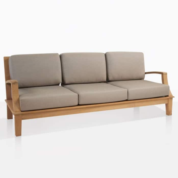 westminister outdoor teak sofa angle
