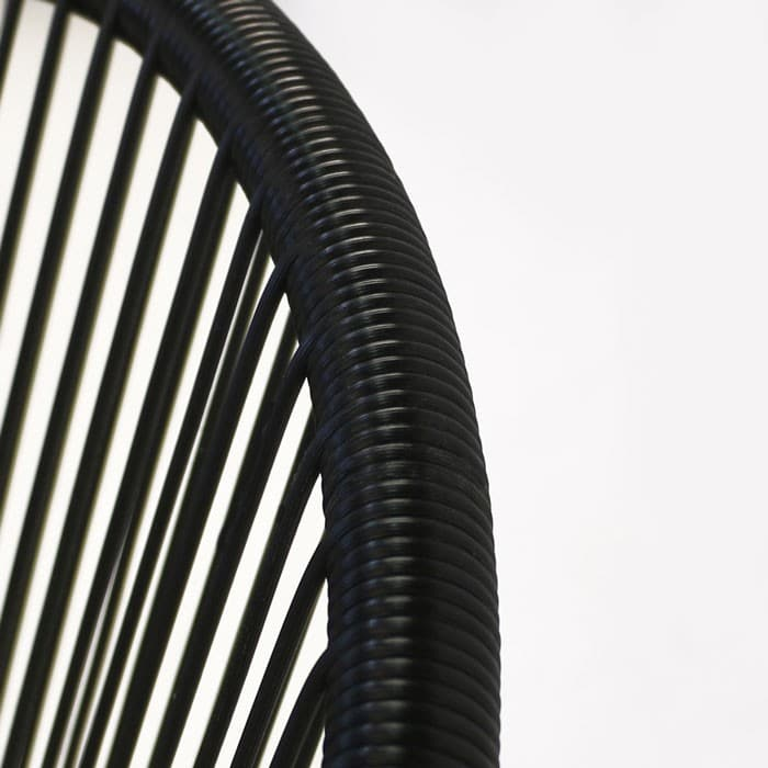 Abbey synthetic outdoor wicker closeup