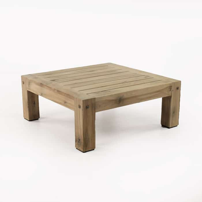 Lodge recycled teak square coffee table