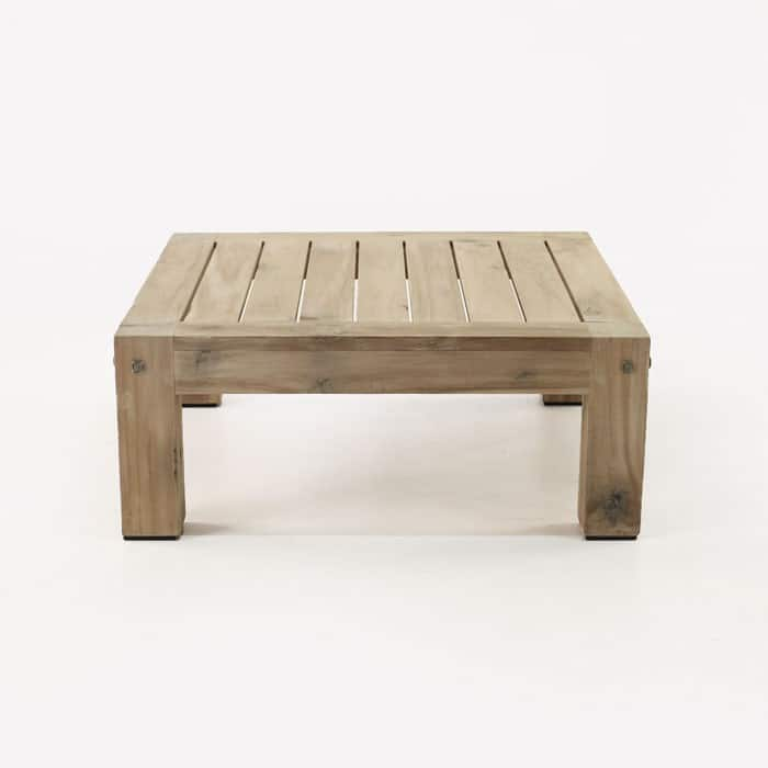 Lodge distressed teak outdoor coffee table