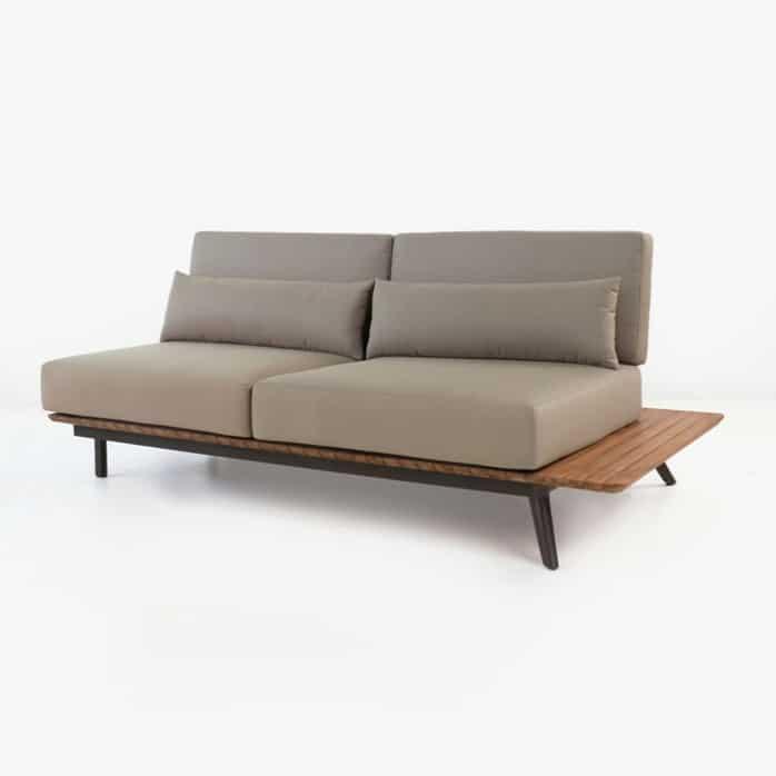 Platform teak daybed sofa