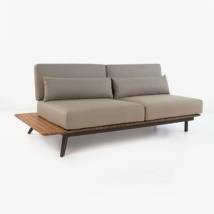 Platform reclaimed teak daybed right angle