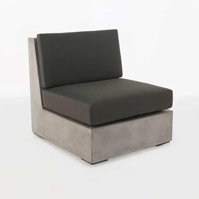 Box outdoor concrete armless chair