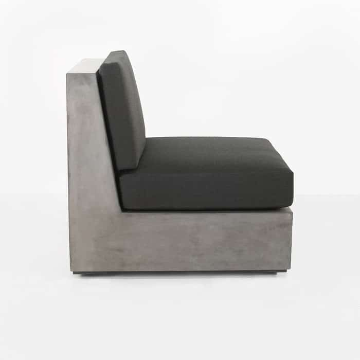 Box modern concrete outdoor chair center side view