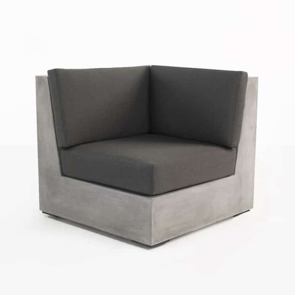 Box concrete sectional corner chair